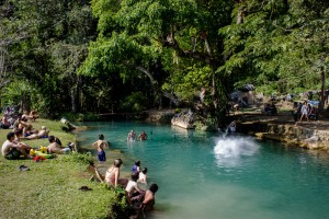 Tham Poukham, the Blue Lagoon