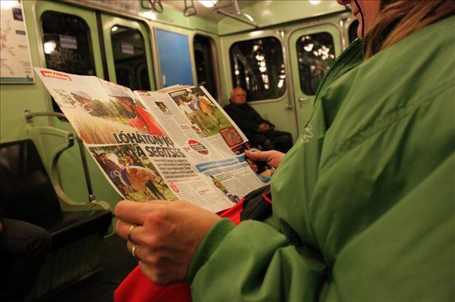Inside Metro 2 Budapest