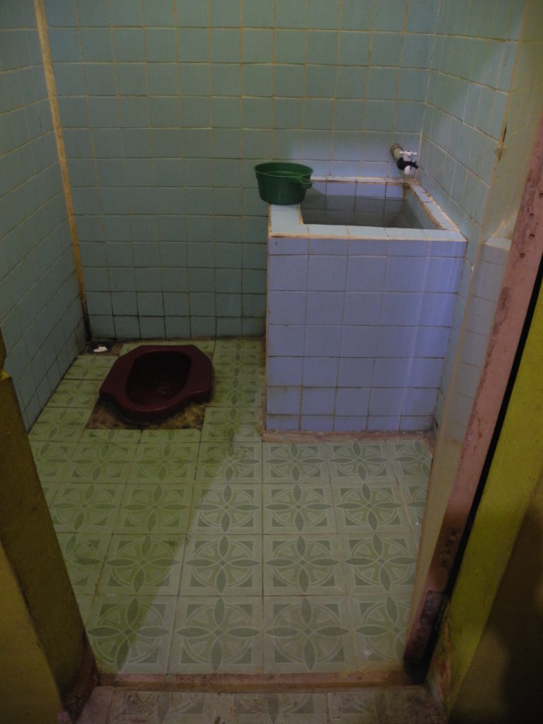 Typical Indonesian Squat Toilet