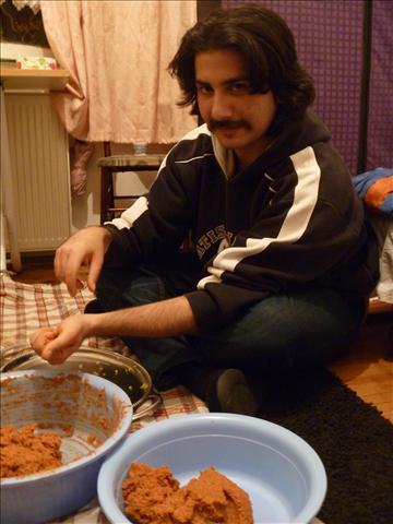 Preparing my favorite food