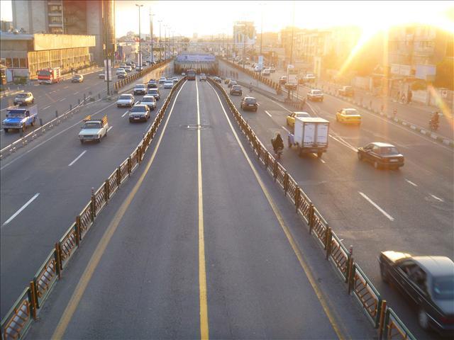 Azadi Street. A normal street - not yet a highway.