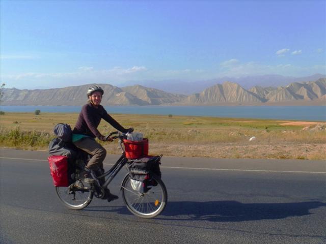 Along the beautiful Toktogul reservoir