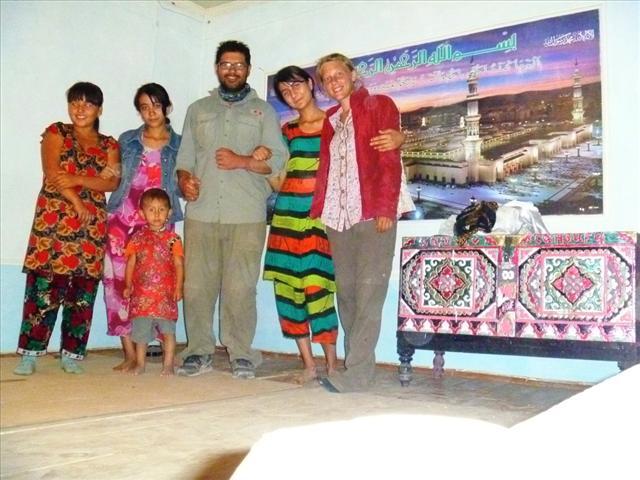 Zarina, Gülruh, little Ozodbek, Roberto, Elmira and I