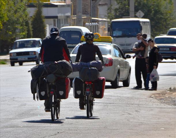 Leaving Tashkent. Thanks Eric and Antoinette