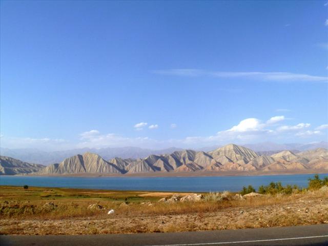 View on the Toktogul reservoir