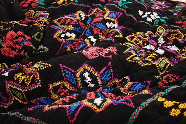 This blanket was hand made from Gulchenza's mother.