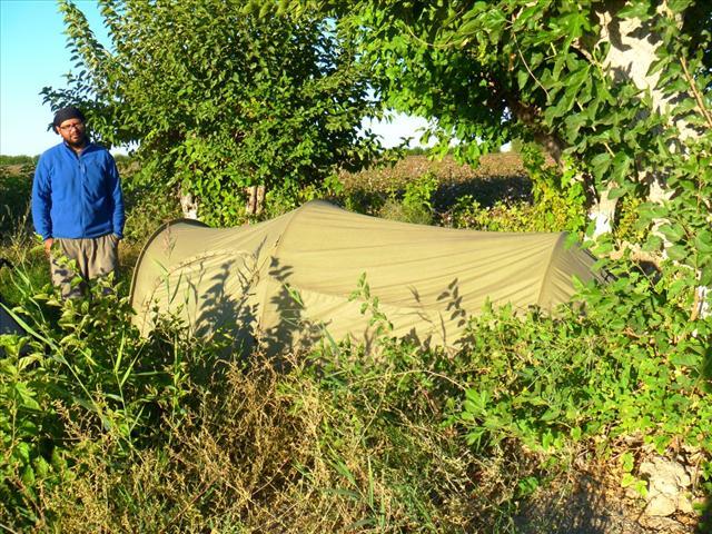 Wild camping in Uzbekistan