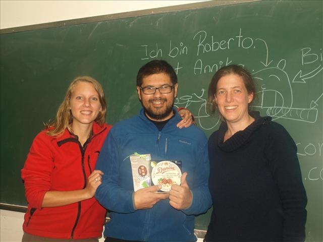 Annika, Roberto and Claudia, the Teacher of the Experimental School