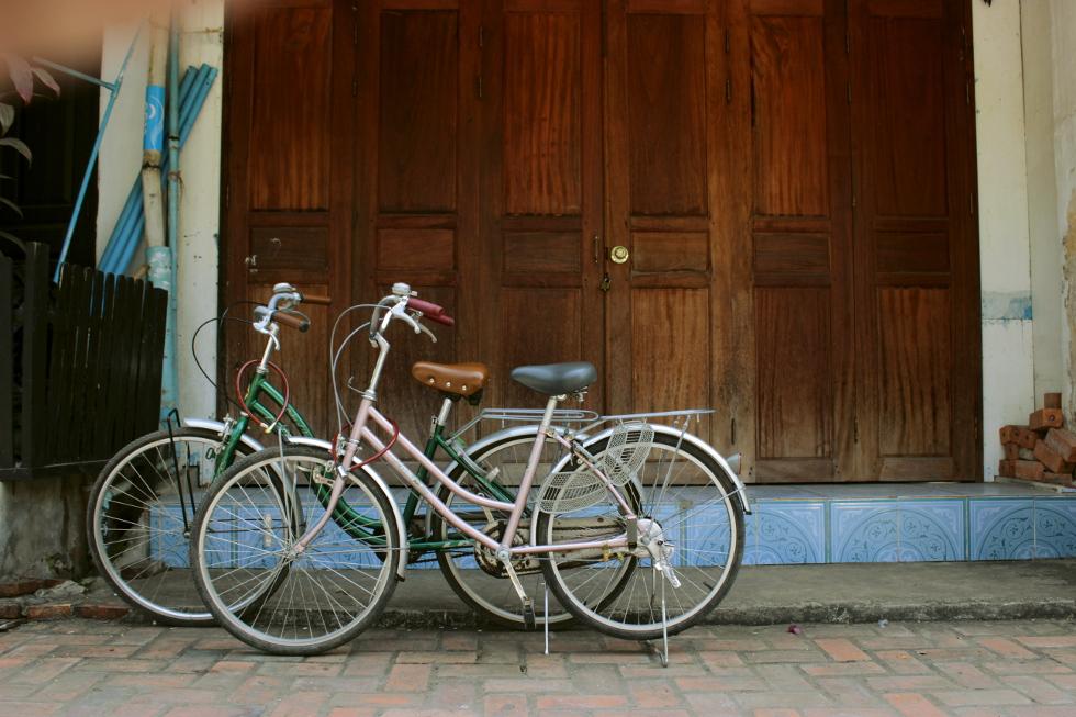 Bicycles in Luangprabang