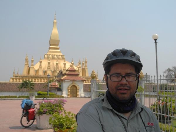 Roberto and the big Stupa