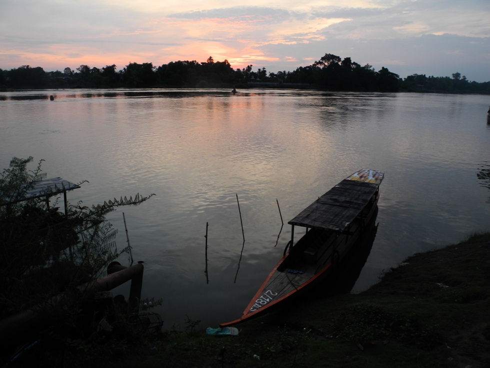 Der Mekong früh morgens in Don Det