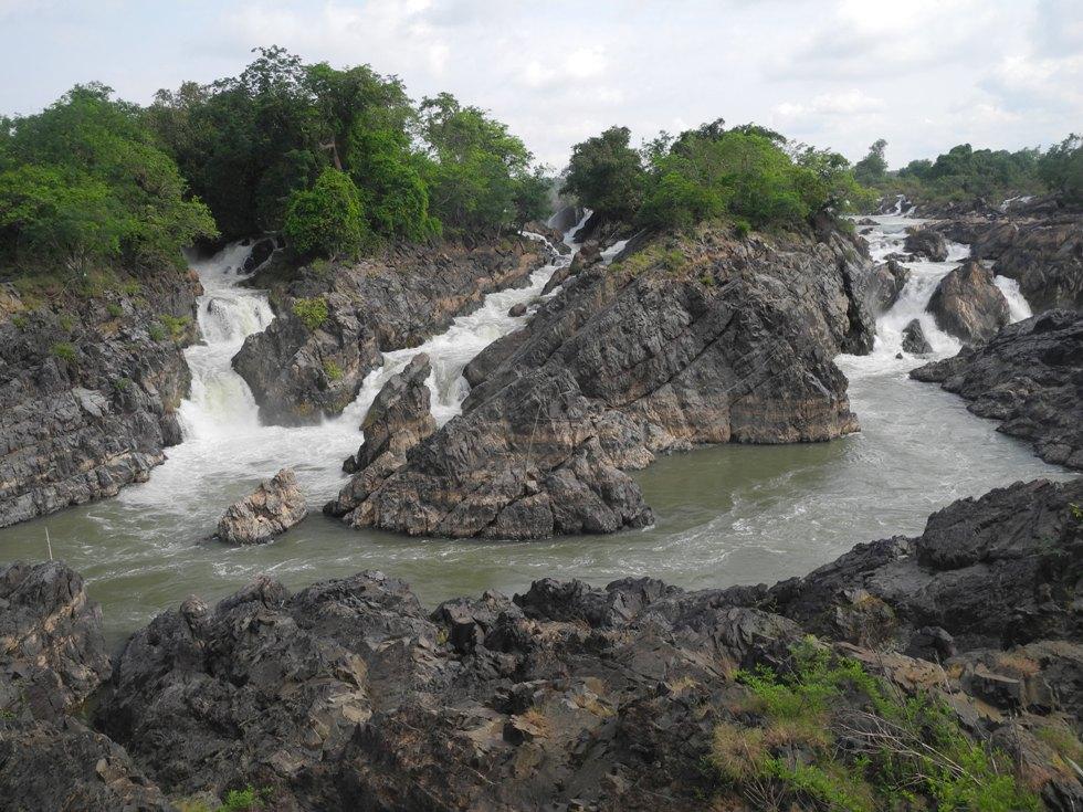 Somphamit Wasserfälle in Don Khone