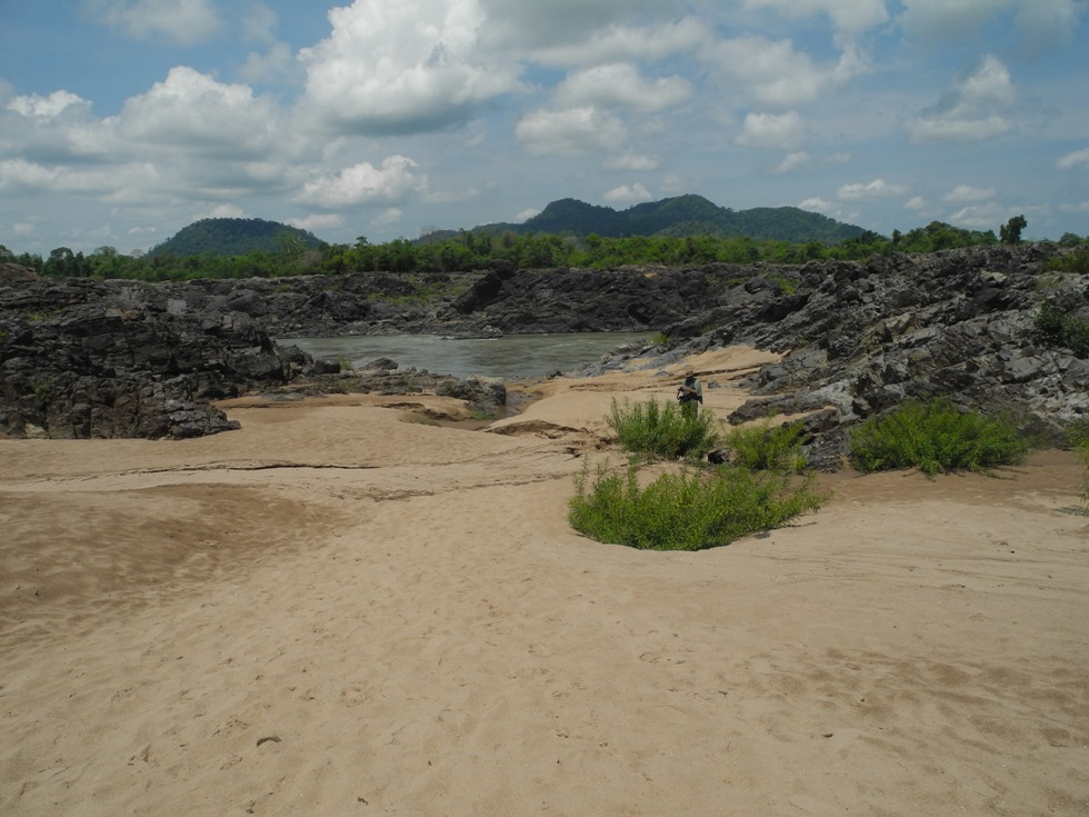 Sandstrand in Don Khone
