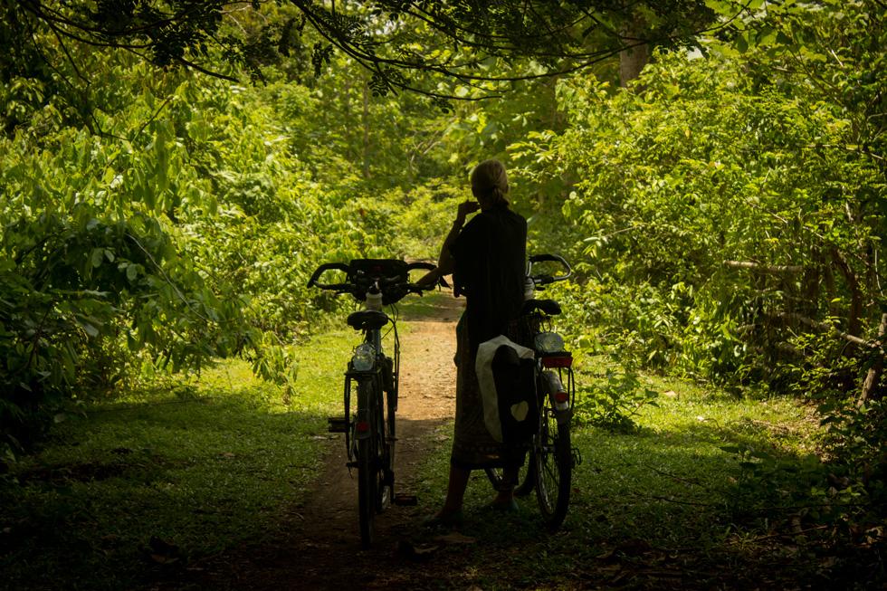 Annika and my bike.