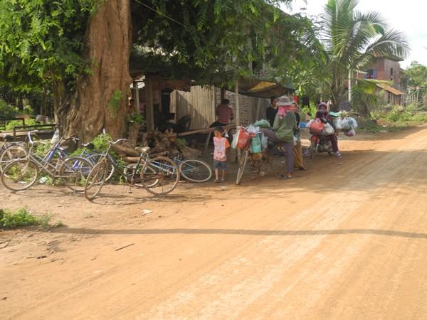 Fahrradtransport in Kambodscha