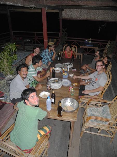 Tortilla-Schmaus mit unseren Freunden