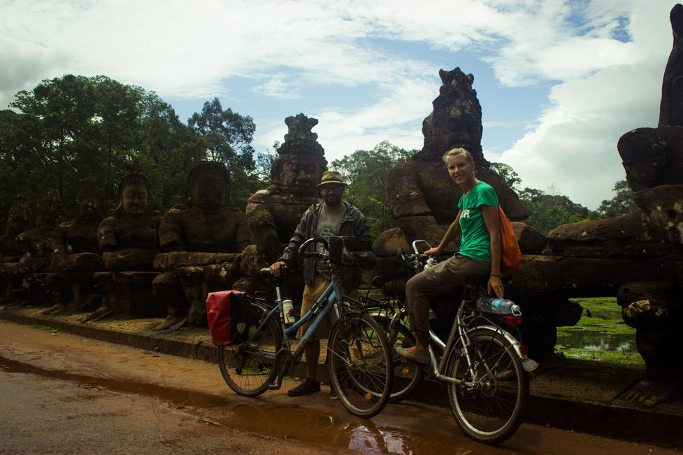 Annika and Roberto in Angkor