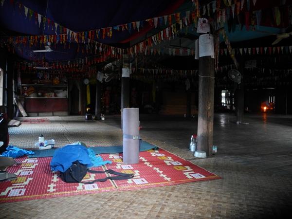 Übernachtung im Tempel