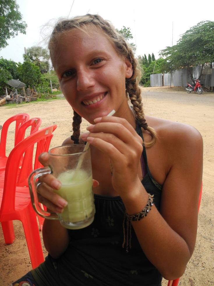 Cambodian fruit shake