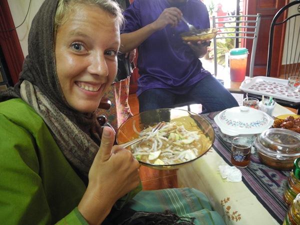 In Kepala Batas ist Laksa das traditionelle Zuckerfest-Essen