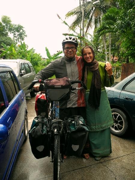 Roberto and I in traditional Hari Raya clothing