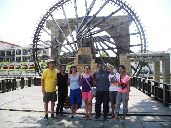 In Melaka feiern wir meine  Geburtstag. Auch Dila und Apit reisen extra aus Kepala Batas und Singapur an.