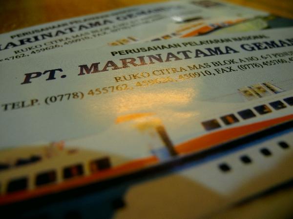 Fährtickets von Batam nach Kuala Tungkal