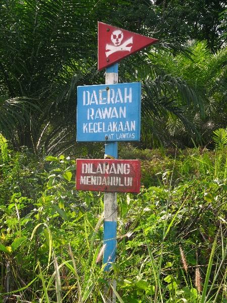 Indonesian warning sign