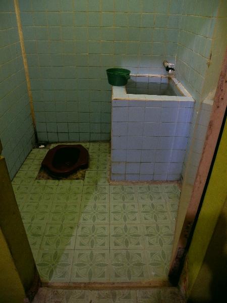 Hotel Bathroom in Sumatra, Indonesia