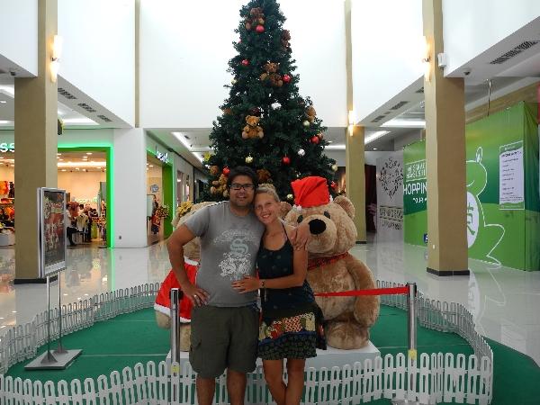 Christmas Feeling inside the malls.