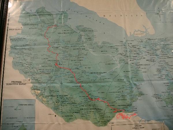 Map of Riau Province, Sumatra, Indonesia