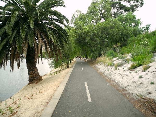 Bike path along the river