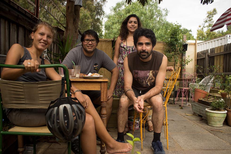 Annika, Andrea, Alvaro y yo