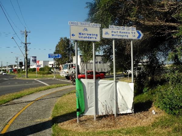 Bike path sign Australia