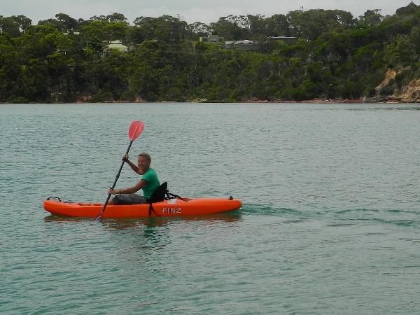 Kayaking in Merimbula lake