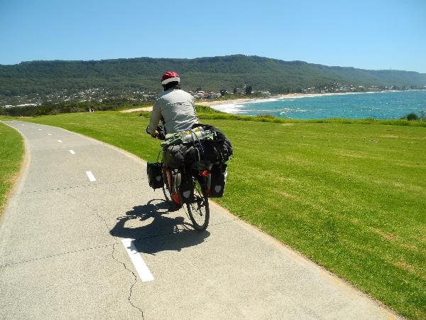 Beautiful bike paths south of Sydney