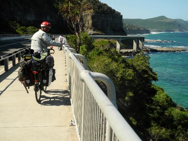 Roberto on the Sea Cliff Bridge