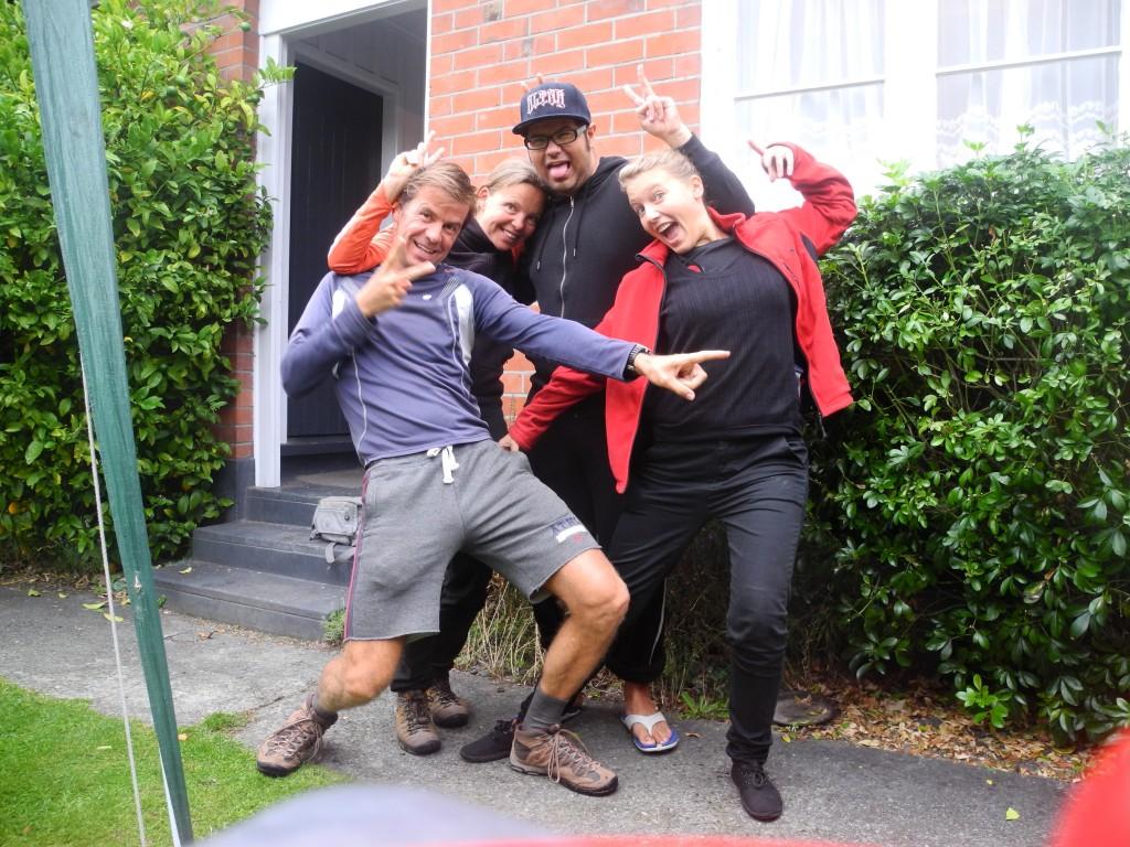 Bärbel und Johan in Neuseeland
