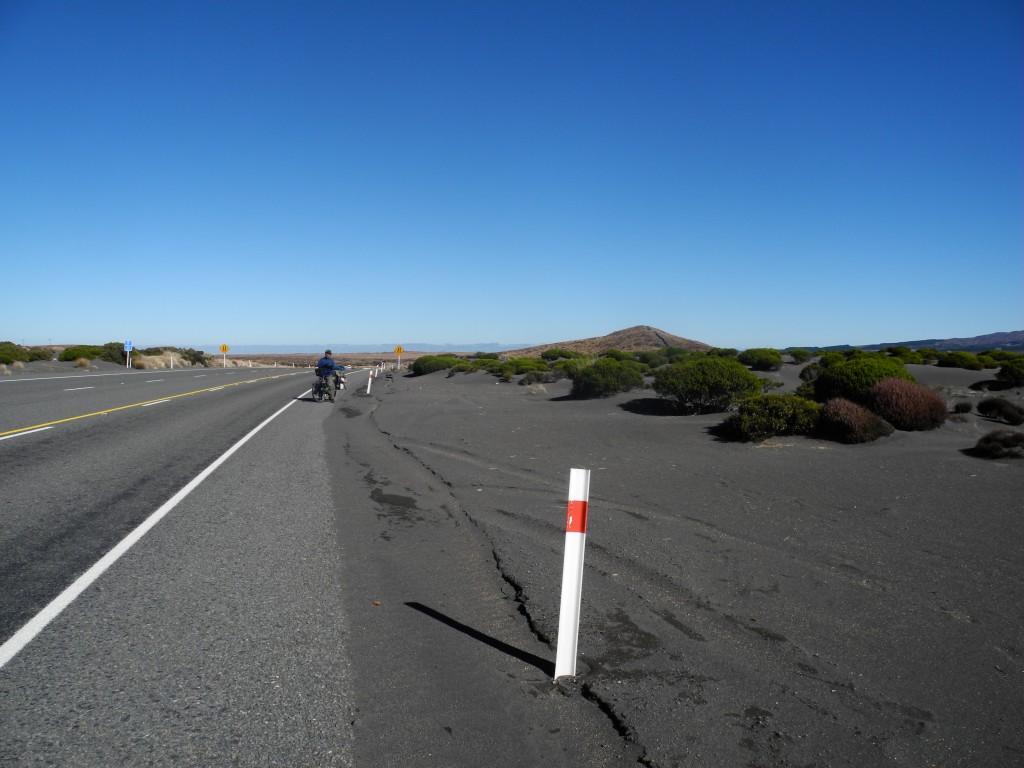 Desert at the Desert Road in New Zealand