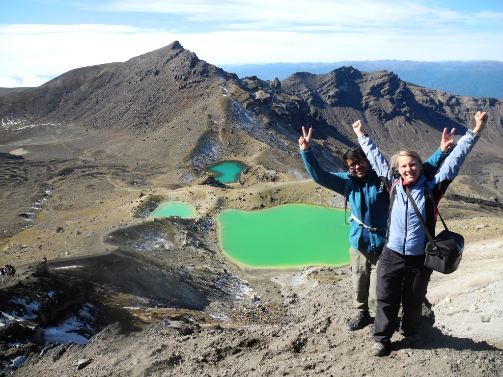 Emerald Lakes on Tongariro Alpine Crossing