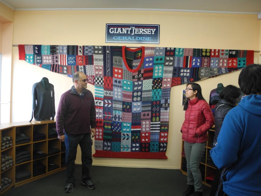 The world's biggest jersey in Geraldine