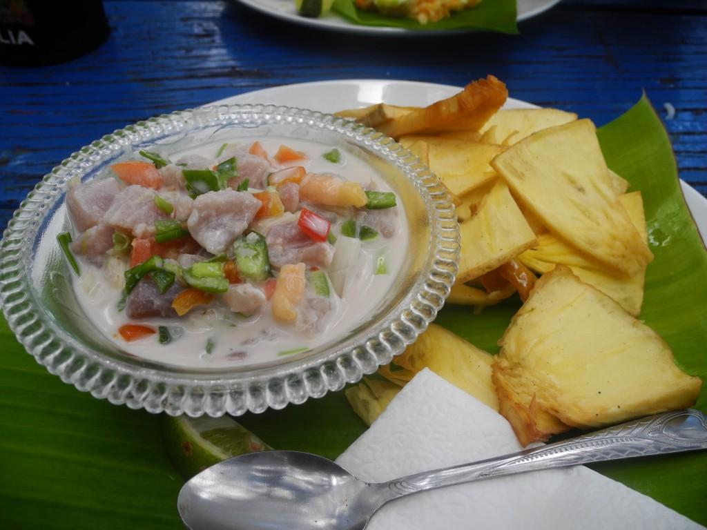 Delicious Tongan 'Ota 'Ika with Taro fries