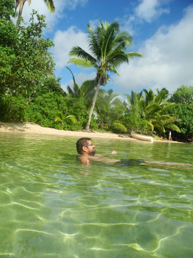 Roberto enjoying Pangaimotu Island