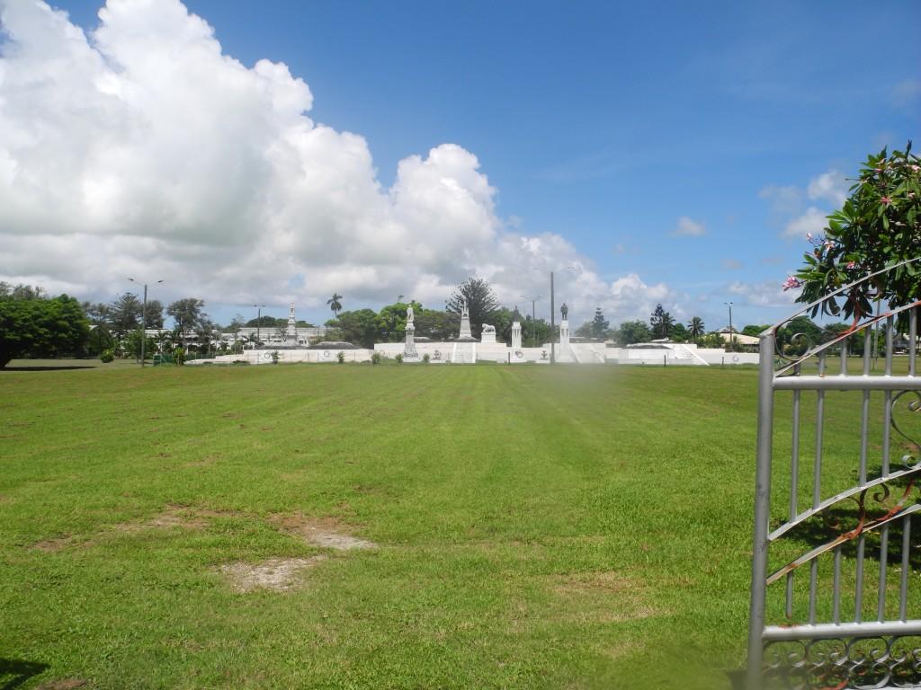 The King's tombs back in Nuku'alofa
