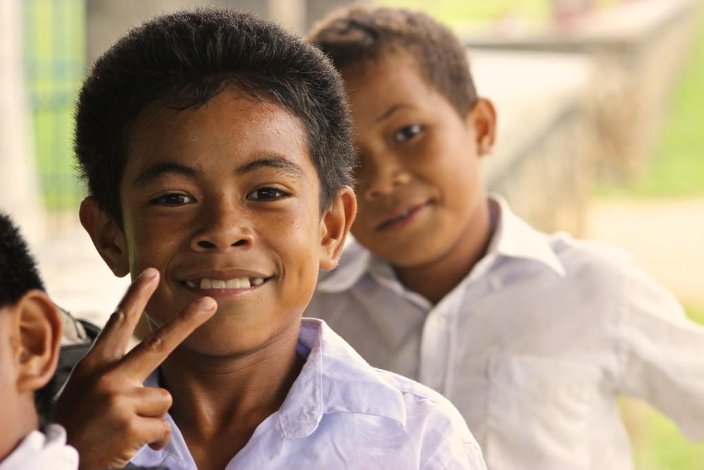 Kids in Tonga wear school uniforms