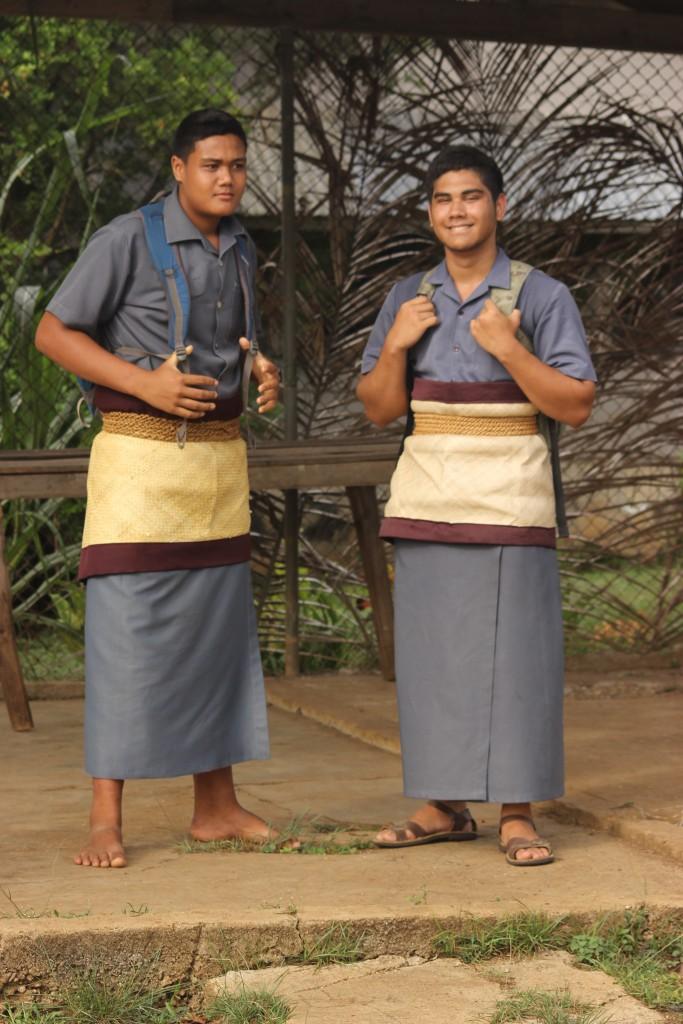 Boys in Tongan school Uniform