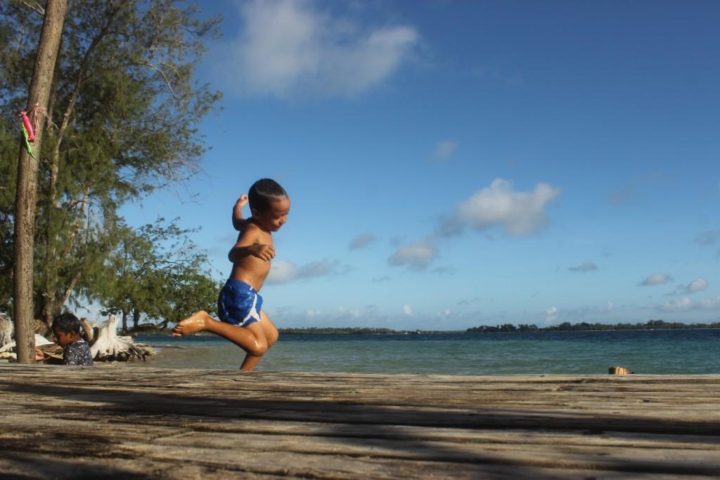 Happy kid in Tonga