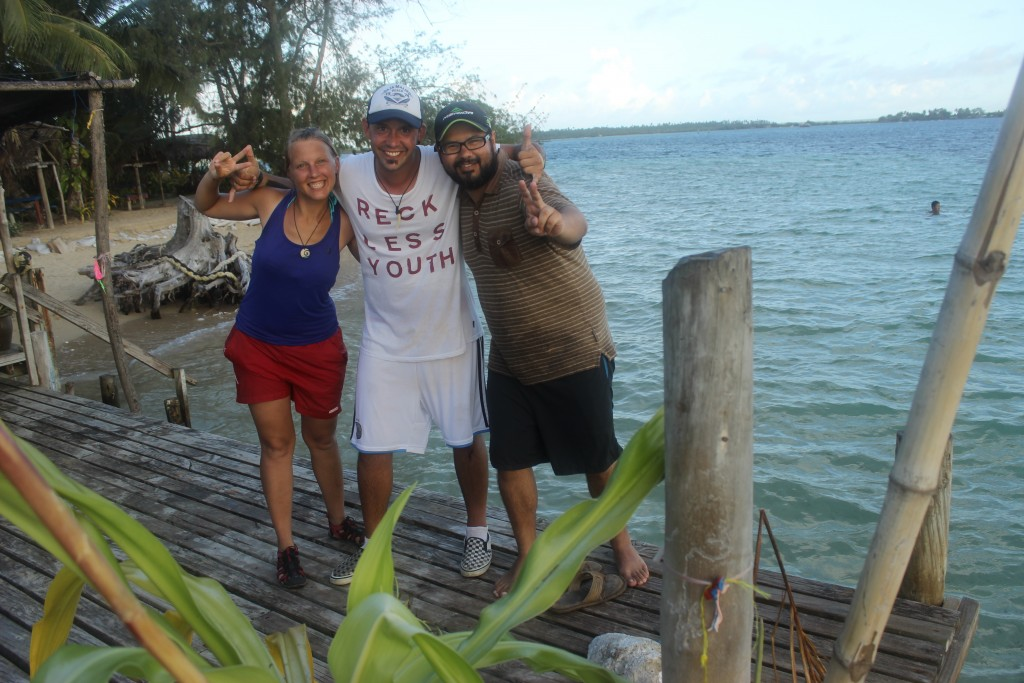 Great times with our Argentinian friend Favi in Pangaimotu