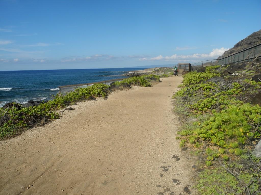 Zunächst ist der Sandweg super.