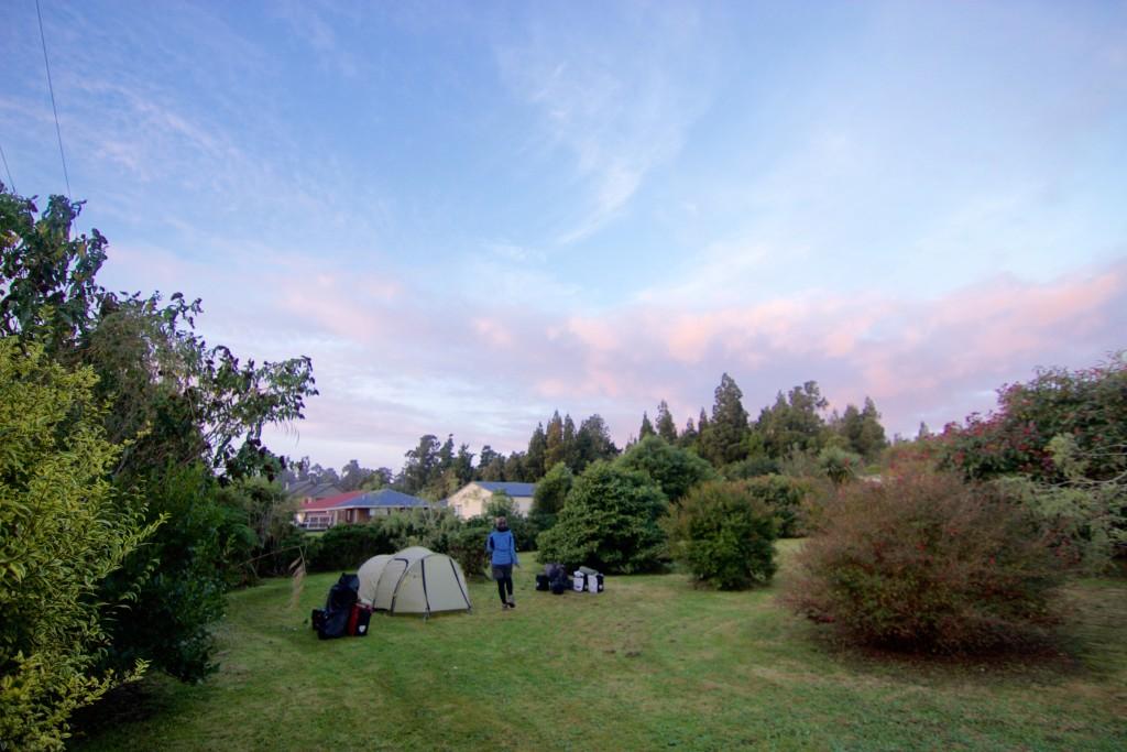 Camping in her Garden